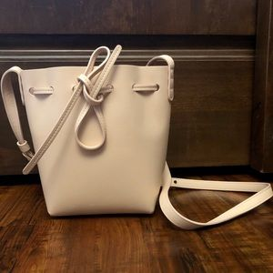 Mansur Gavriel Rosa Saffiano Mini Bucket Bag